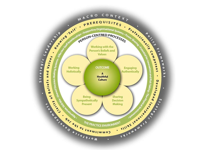 Figure 2 - Person-centred care practice framework