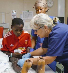 The Mercy Ships charity has brought surgical care to Africa for 40 years.