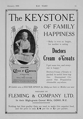 Old advertisement for Doctors Cream O' Groats