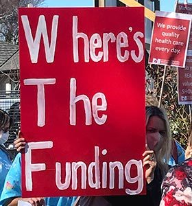 Despite efforts, pay parity for primary health care nurses has yet to be achieved.