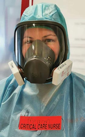 Megan Stowers in full PPE