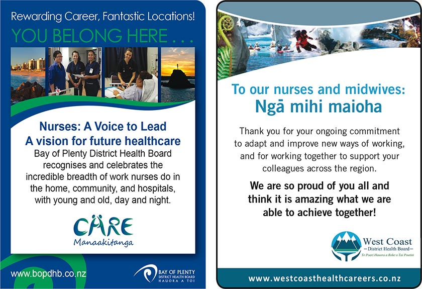 Bay of Plenty DHB - you belong here. West Coast DHB - thank you for your ongoing commitment.