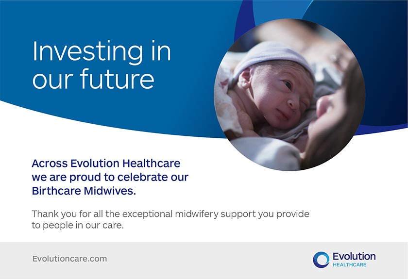 Across Evolution Healthcare we are proud to celebrate our Birthcare Midwives