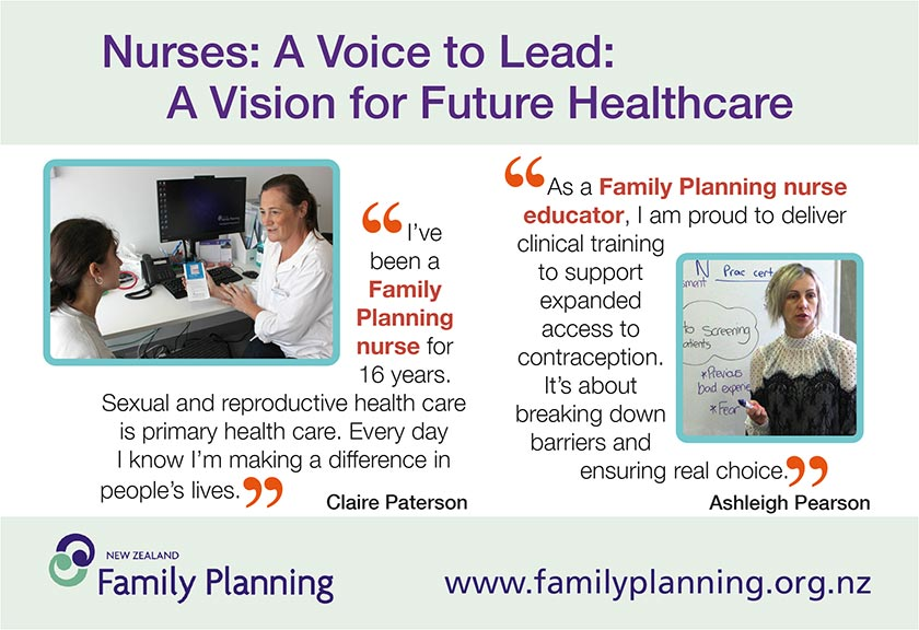 New Zealand Family Planning - nurses: a voice to lead