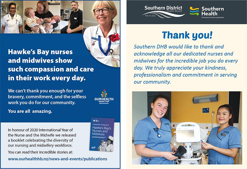 Hawke's Bay nurses and midwives show such compassion and care in their work every day. Southern DHB says thank you!