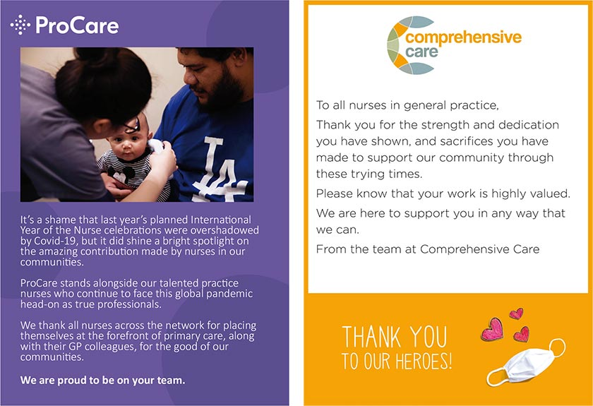 Pro Care - we are proud to be on your team. Comprehensive Care - thank you to our heroes!