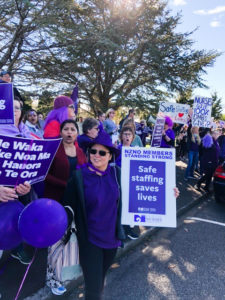 Nurses protesting in New Plymouth