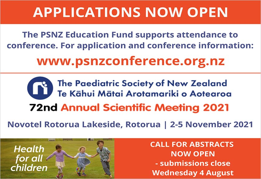 Paediatric Society of New Zealand Conference