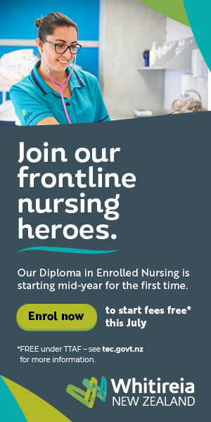 Join our frontline nursing heroes - Whitireia