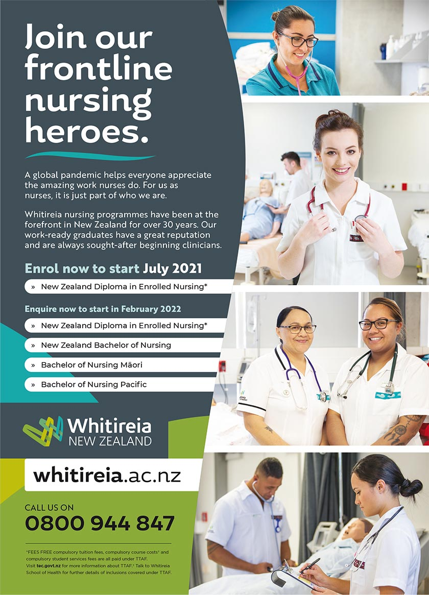 Whitireia - Join our frontline nursing heroes