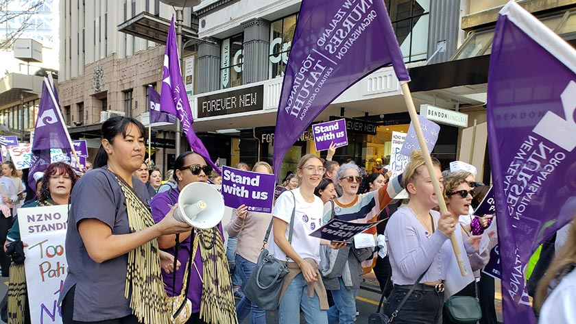 NZNO members hit the streets of Wellington in June