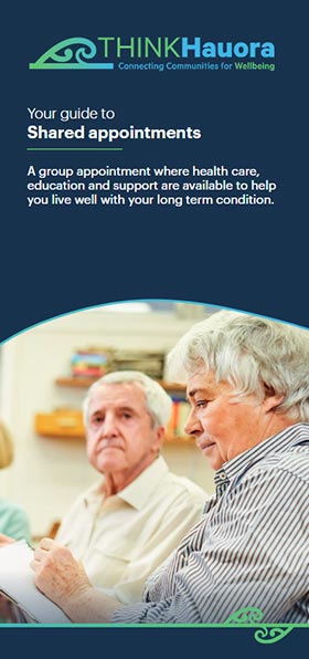 THINK Hauora 'Your guide to shared appointments' brochure